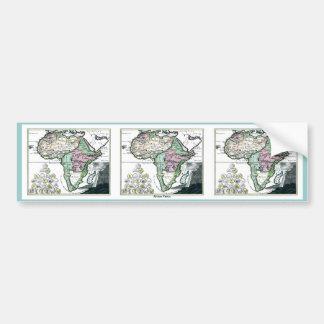 Mapa 1720 de África Vetus Etiqueta De Parachoque