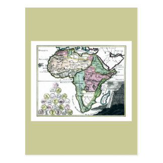 Mapa 1720 de África Vetus Tarjeta Postal