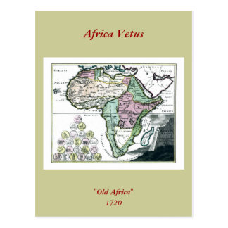 Mapa 1720 de África Vetus Postal