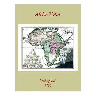 Mapa 1720 de África Vetus Tarjetas Postales