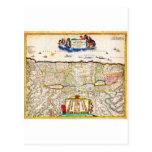 Mapa 1720 de Funck de la Tierra Santa de Israel Postal