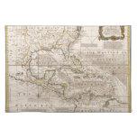 Mapa 1720 de las Antillas de Manuel Bowen Mantel Individual