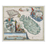 Mapa 1720 de Malta Impresiones