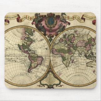 Mapa 1720 de Viejo Mundo Mousepad Tapetes De Ratón