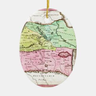 Mapa 1720 de Weigel de los comités incluyendo Adorno Navideño Ovalado De Cerámica