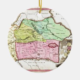 Mapa 1720 de Weigel de los comités incluyendo Adorno Navideño Redondo De Cerámica