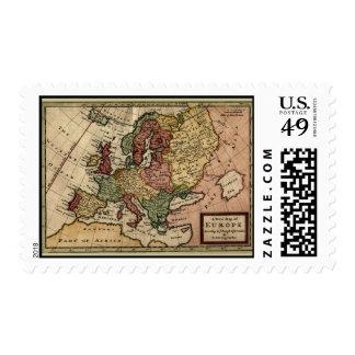 Mapa 1721 de Europa Franqueo