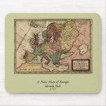 Mapa 1721 de Europa Tapete De Raton