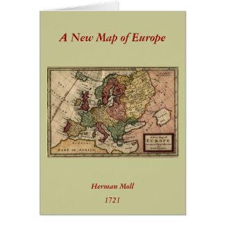 Mapa 1721 de Europa Tarjeta De Felicitación
