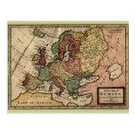 Mapa 1721 de Europa Tarjeta Postal