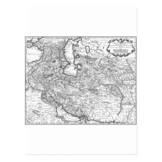 Mapa 1724 de Persia Tarjetas Postales