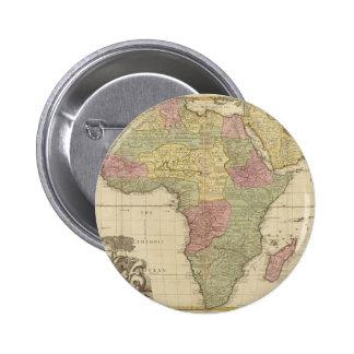 Mapa 1725 de África del vintage Pin Redondo De 2 Pulgadas