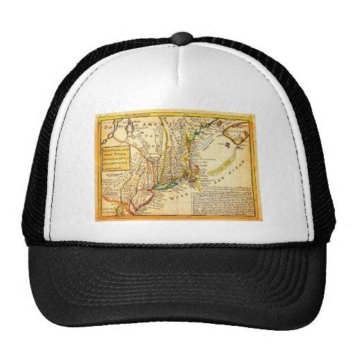 Mapa 1729 del Moll de Nueva York Nueva Inglaterra  Gorra