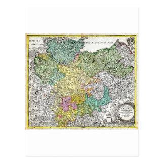 Mapa 1730 de Homann de un Saxond más bajo Berlín Postales