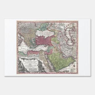 Mapa 1730 de Seutter de Turquía imperio otomano