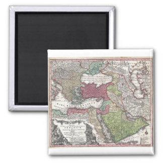 Mapa 1730 de Seutter de Turquía imperio otomano Imanes De Nevera