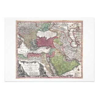 Mapa 1730 de Seutter de Turquía imperio otomano Anuncios
