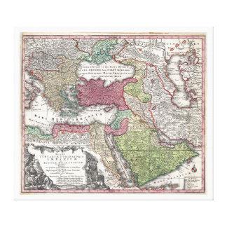 Mapa 1730 de Seutter de Turquía imperio otomano Impresión En Lona Estirada
