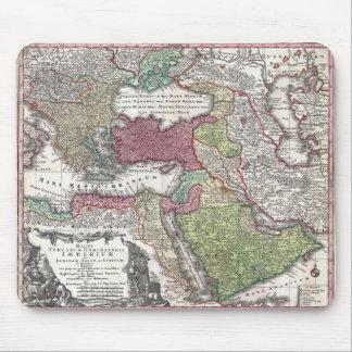 Mapa 1730 de Seutter de Turquía imperio otomano Tapete De Ratón