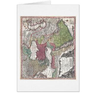 Mapa 1730 de Seutter de Turquía imperio otomano Tarjetón