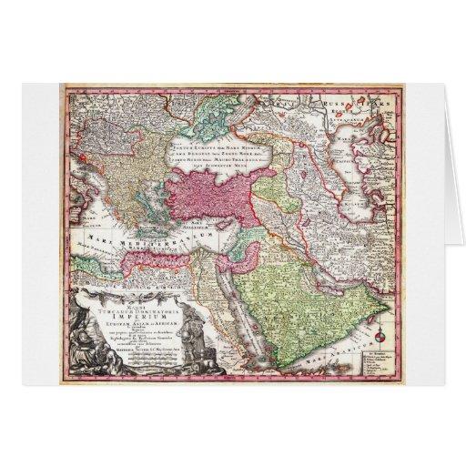 Mapa 1730 de Seutter de Turquía (Ottoman_Empire) P Felicitacion