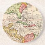 Mapa 1732 del Moll de Herman de las Antillas y del Posavasos Para Bebidas