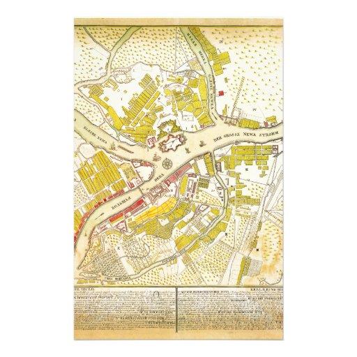 mapa 1737 de St Petersburg Papeleria De Diseño