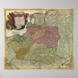 Mapa 1739 de Polonia Impresiones