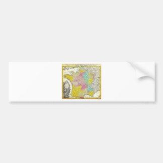 Mapa 1741 de los herederos de Homann de Francia Ge Pegatina Para Auto