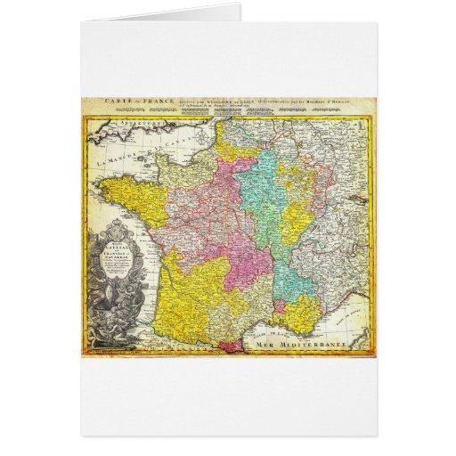 Mapa 1741 de los herederos de Homann de Francia Ge Tarjeta De Felicitación