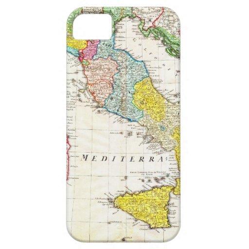 Mapa 1742 de los herederos de Homann de Italia iPhone 5 Protector