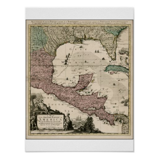 mapa 1742 póster