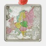 Mapa 1743 de Haas de los herederos de Homann de Ornamentos Para Reyes Magos