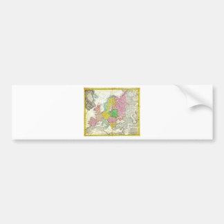 Mapa 1743 de Haas de los herederos de Homann de Eu Pegatina Para Auto