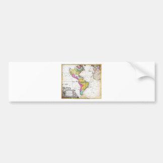 Mapa 1746 de los herederos de Homann de Norteaméri Pegatina Para Auto