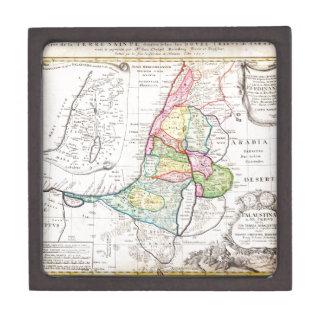 Mapa 1750 de los herederos de Homann de Israel Pal Caja De Recuerdo De Calidad