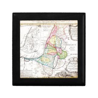 Mapa 1750 de los herederos de Homann de Israel Pal Caja De Recuerdo