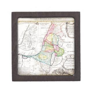 Mapa 1750 de los herederos de Homann de Israel Pal Caja De Joyas De Calidad