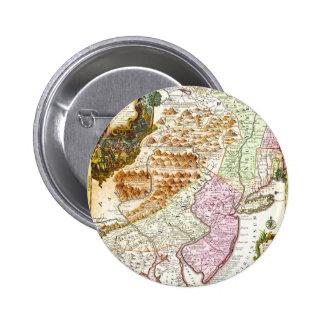 Mapa 1756 de Lotter de Pennsylvania New Jersey nue Pins