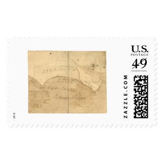 Mapa 1760 de Alexandría VA George Washington Sello