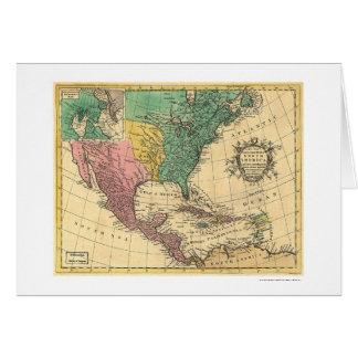 Mapa 1763 de Norteamérica Tarjeta De Felicitación