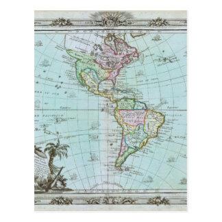 Mapa 1764 de las Américas de Louis Brión de la Postal