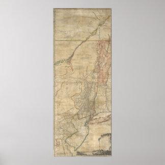 Mapa 1768 de Jeffreys de Nueva York y de New Jerse Posters
