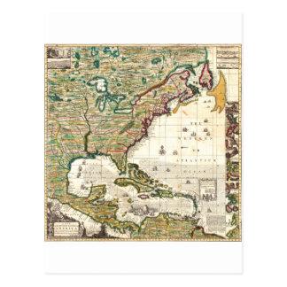 Mapa 1773 de América Tarjeta Postal