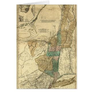 mapa 1776 de Nueva York, de New Jersey y de Quebec Felicitaciones