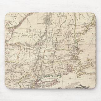 Mapa 1777 de Nueva Inglaterra Mouse Pads