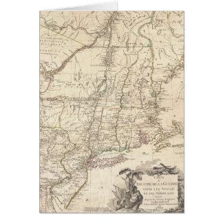 Mapa 1777 de Nueva Inglaterra Tarjeta De Felicitación