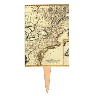 Mapa 1778 de Canadá y de los Estados Unidos Figuras Para Tartas