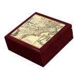 Mapa 1778 de Canadá y de los Estados Unidos Cajas De Joyas