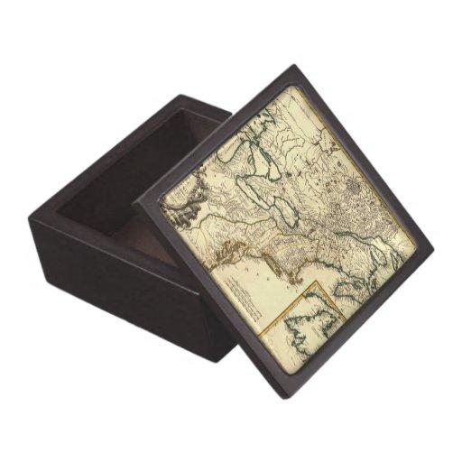 Mapa 1778 de Canadá y de los Estados Unidos Caja De Joyas De Calidad
